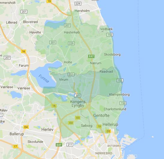 Kort over kommunen