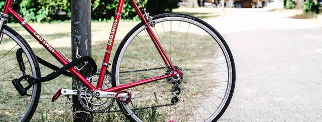 Cykel med lås