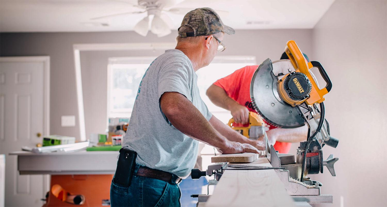 Håndværker der arbejder